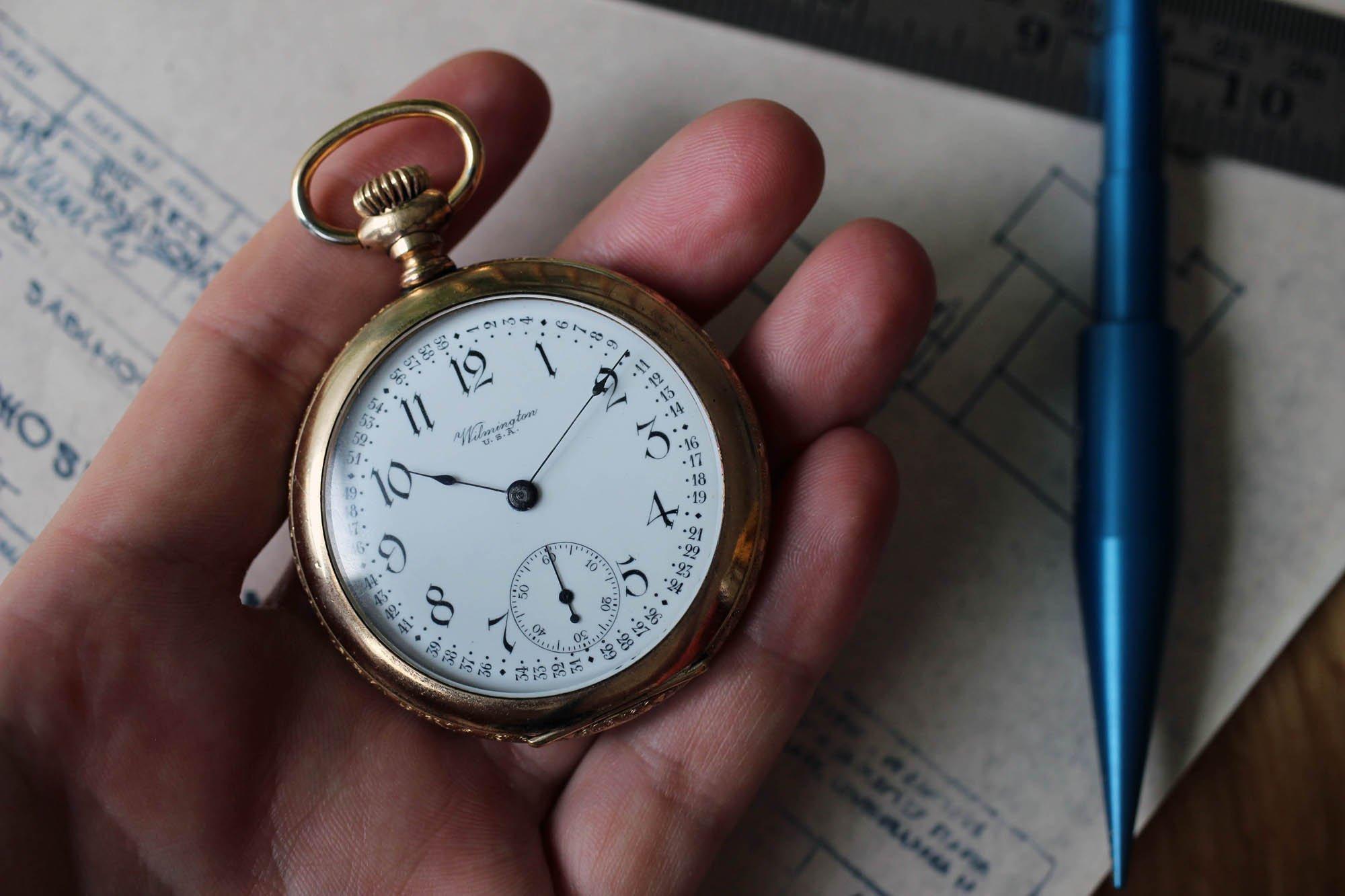April Vintage Inspiration: Unusual Wilmington Pocket Watch