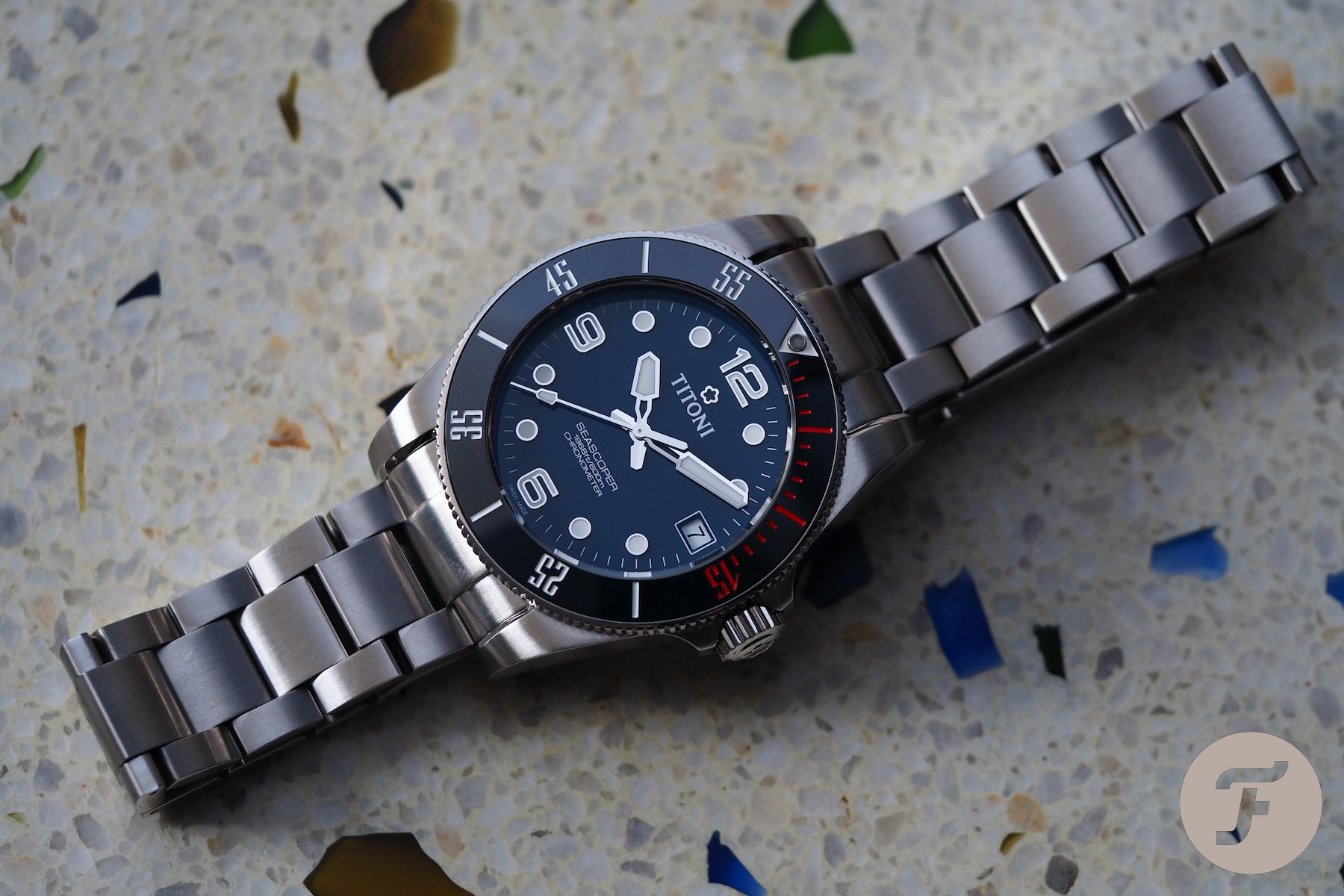 Titoni Seascoper Reference 83600 S-BE-255 Dive Watch Review