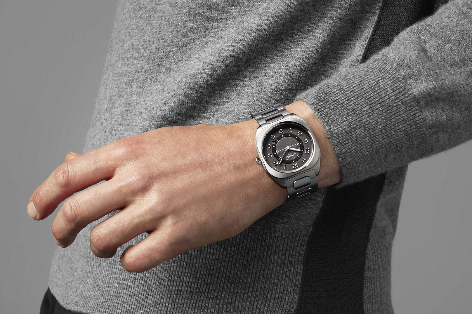 Hermès Gets All Sporty With The Cushion-Shaped H08 In Titanium