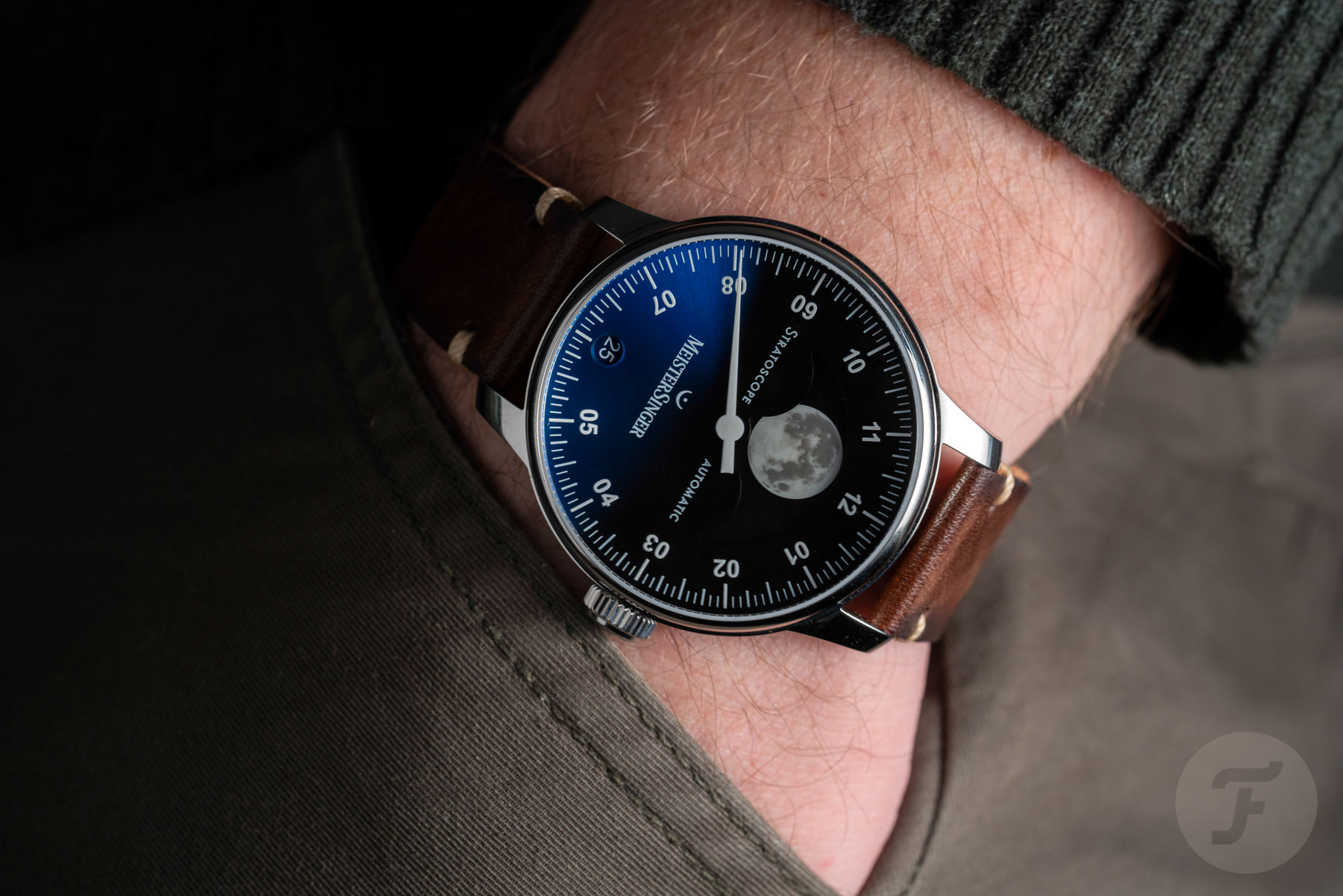 Hands-On With The New Meistersinger Stratoscope Moonphase Watch