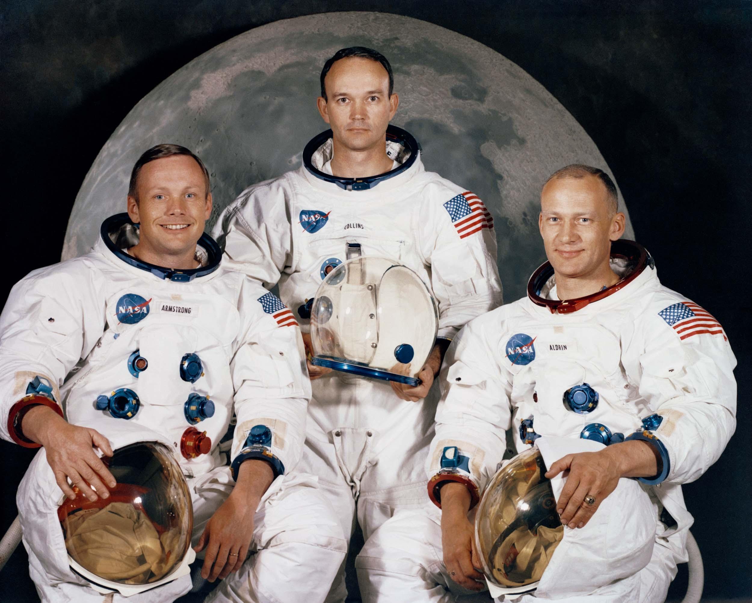 The Apollo XI crew: Armstrong, Collins, and Aldrin