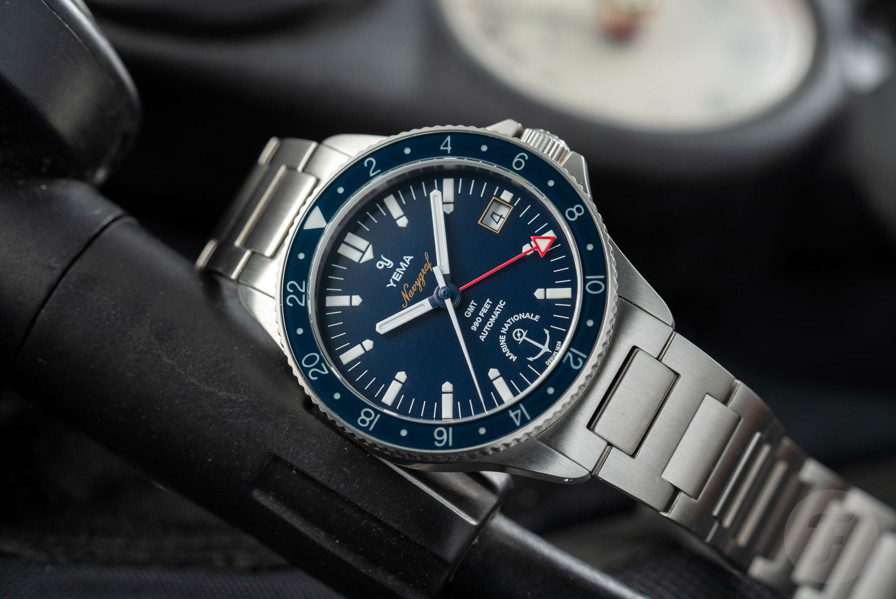 YEMA Navygraf Marine Nationale GMT Limited Edition Watch